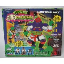 Night Ninja Mike Automutations TMNT MIB - Playmates 1993
