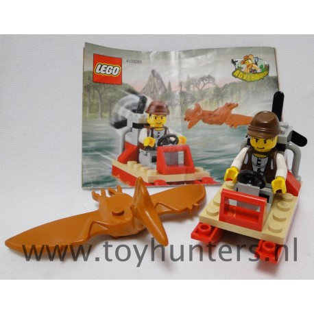 5912 Hydrofoil loose complete - Adventurers: Dino Island LEGO