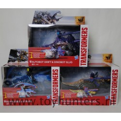 Set of 3 Transformers Dino Sparkers NEW Drift Slug Bumblebee Strafe Optimus Prime Grimlock MIB Hasbro
