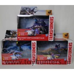 Set of 3 Transformers Dino Sparkers NEW Drift Slug Bumblebee Strafe Optimus Prime Grimlock MIB Hasbro