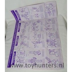 instruction sheet Tripredacus Transformers Beast Wars
