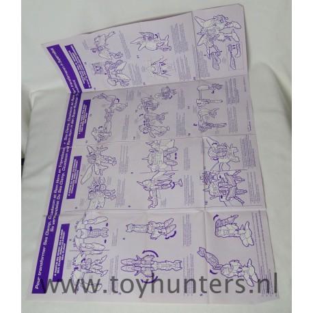 instruction sheet Tripredacus Transformers Beast Wars