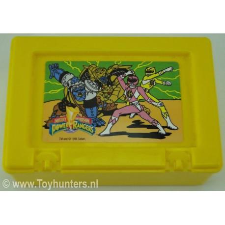 Power Rangers Lunchbox Yellow no 2 - Bluebird 1994 Saban