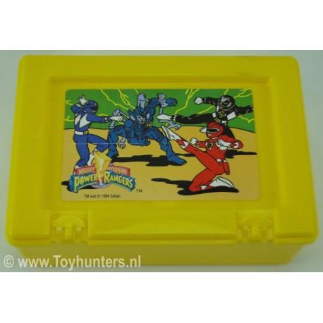 Power Rangers Lunchbox Yellow no 3 - Bluebird 1994 Saban