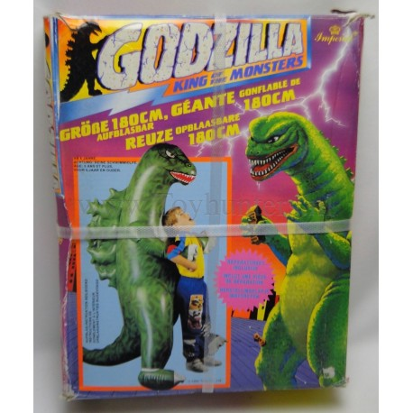 Godzilla 180cm blow up Dinosaur Imperial 1992 70,9 inch 5,9ft - NEW sealed condition