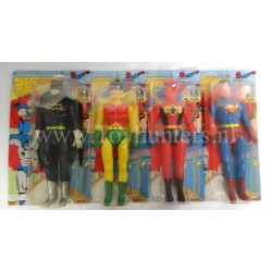 MOC Bootleg Super Powers set Batman Robin Spiderman Superman 30cm