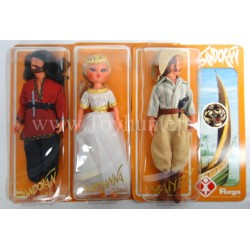 Sandokan Marianna Yanez 30cm Action Doll set Furga Italy 70s MOC