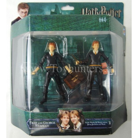 Fred and George Weasley MIP PopCo Deluxe Action Figures WB Harry Potter