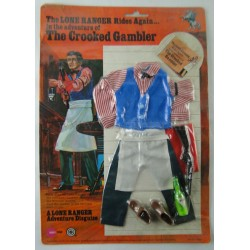 The Crooked Gambler outfit MOC - The Lone Ranger Marx Toys 1975 Carson City