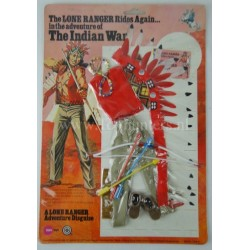 The Indian War outfit MOC - The Lone Ranger Marx Toys 1975 Carson City