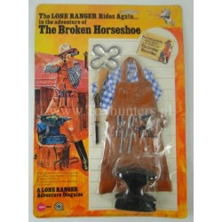 The Broken Horseshoe outfit MOC - The Lone Ranger Marx Toys 1975 Carson City