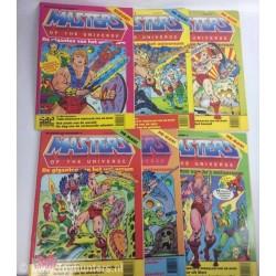 MOTU set of 6x BIG size monthly Comics Dutch He-man