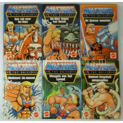 complete set of 6x He-man Books Dutch MOTU