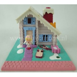 1993 Ski Lodge Pollyville - Polly Pocket Bluebird vintage