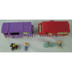 1994 Polly Pocket Home on the Go, Stable on the Go Out 'n About