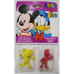 Mickey and Donald erasers MOC SPAIN
