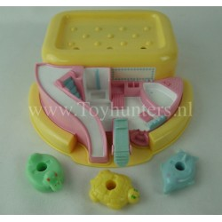 1990 Bathtime Soap Dish Play Set - 3x Floats