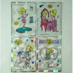 set of 4x Polly Pocket Stickers 1994 BBT