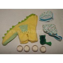 Dragon outfit & Sunsuit - MLP Pony Wear - Hasbro 1985