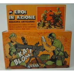 Anti-Tank Squad with Box - Heroes in Action - Mattel 1975 Italy