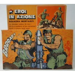 Mortar Squad with Box - Heroes in Action - Mattel 1975 Italy