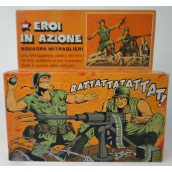 Machine Gun Crew with Box - Heroes in Action - Mattel 1975 Italy