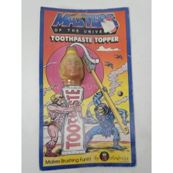 vintage He-man Toothpaste Topper MIP - Colorforms USA