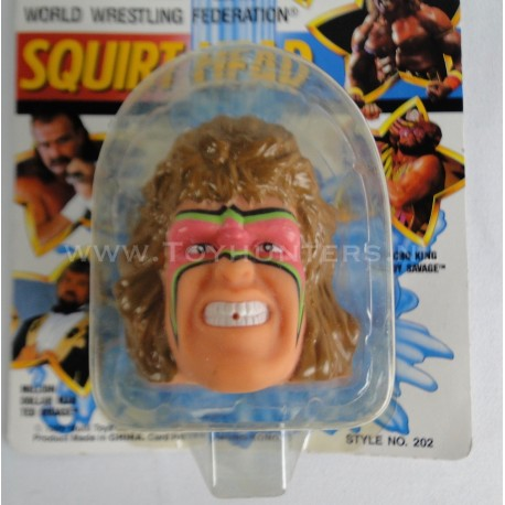 Ultimate Warrior Squirt Head MOC - WWF 1990 Multi Toys