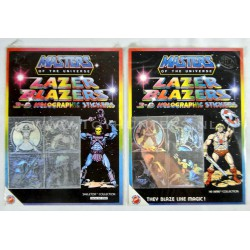 2x MOTU Lazer Blazers 3D Hologram sticker sheets MIP