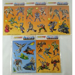 5x MOTU sticker sheets MIP by Pacesetter