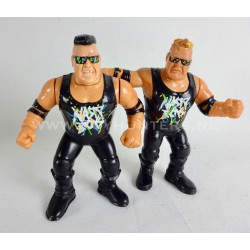 The Nasty Boys Brian Knobs and Jerry Sags - Series 4 - WWF Hasbro 1992