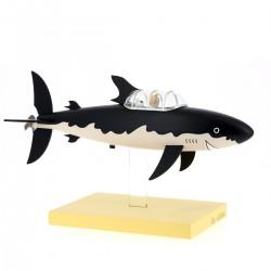 Tintin and Snowy in the Shark Submarine