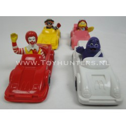 4x Connect-a-Car 1991 Mcdonalds Happy Meal Toys