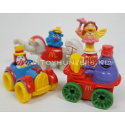 4x Circus Parade 1991 Mcdonalds Happy Meal Toys