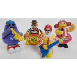 4x Wind Up Band Set 1993 Mcdonalds Happy Meal Toys