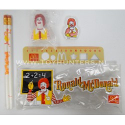 Mcdonalds pencil case 1984 Stationary Set UNUSED