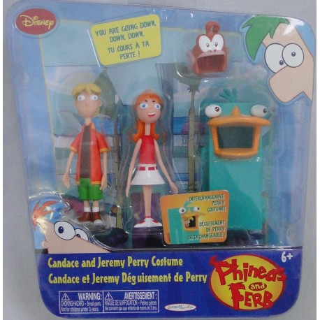 Candace en Jeremy - Perry Costume Phineas and Ferb Jakks