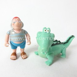 Pirate Smee and Crocodile - Peter Pan loose lot Famosa Disney Heroes Pirates