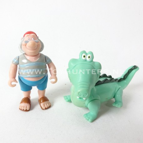 Pirate Smee and Crocodile - Peter Pan loose lot Famosa Disney Heroes Pirates