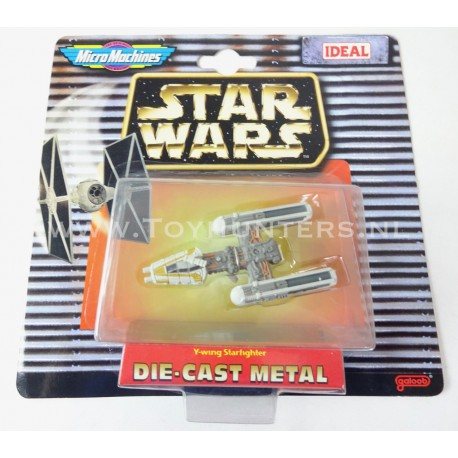 Y-Wing Starfighter Die Cast Metal Star Wars Micro Machines