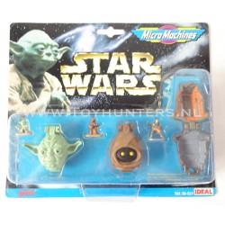 Star Wars Micro Machines Heads - Collection III 3 -Ideal 1996 Yoda Jawa Leia