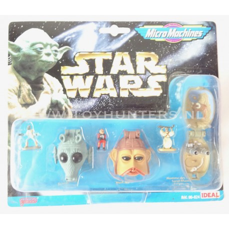 Star Wars Micro Machines Heads - Collection II 2 -Ideal 1996 Greedo Nien Numb Tusken Raider