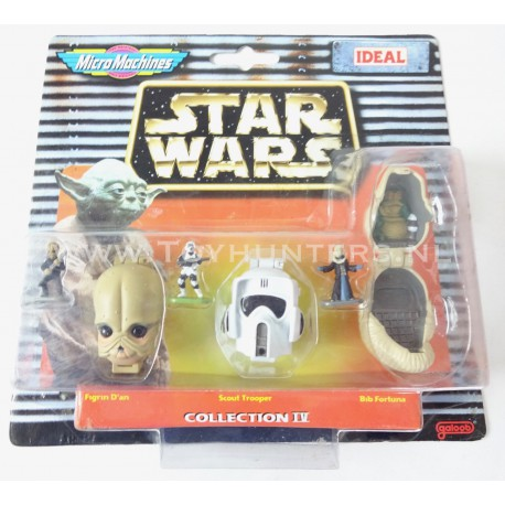 Star Wars Micro Machines Heads - Collection IV 4 -Ideal 1997 Scout Trooper Bib Fortuna Figrin D'an