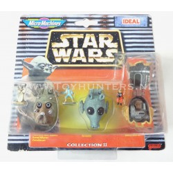 Star Wars Micro Machines Heads - Collection II 2 - Ideal 1997 Greedo Nien numb Tusken Raider