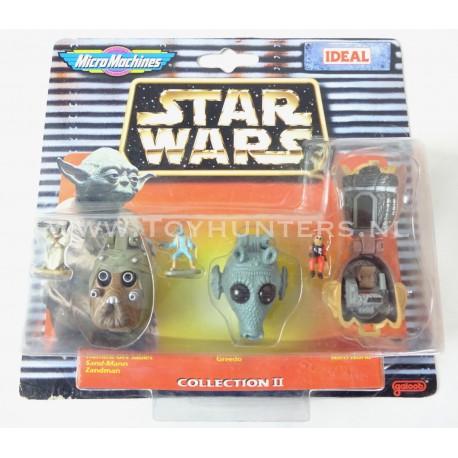 Star Wars Micro Machines Heads - Collection II 2 - Ideal 1997 Greedo Nien numb Tusken Raider