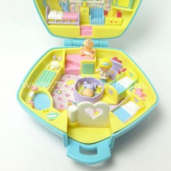 Polly in the Nursery 1992 Light Blue - Polly Pocket Bluebird vintage