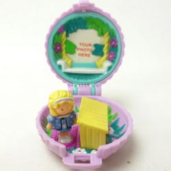 Fuzzy Bunny Locket 1993 - Polly Pocket Bluebird vintage