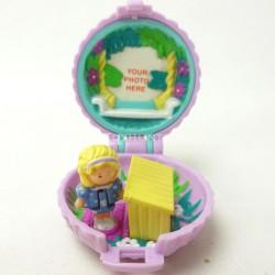 Fuzzy Bunny Locket 1993 - Polly Pocket Bluebird vintage