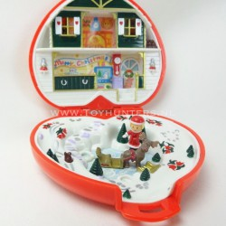 Christmas Compact Play Set 1989 - Polly Pocket Bluebird vintage