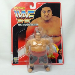 Yokozuna PERFECT LOOSE w/card + bubble - Series 8 - 1994 WWF Hasbro